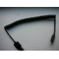 USB vers micro usb câble extensible pour Samsung Galaxy note4 / S4 / S3 / Huawei / lenovo (noir)