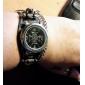 남자의 펑크 스타일의 해골 무늬 블랙 PU 밴드 석영 손목 시계 (분류 된 색깔)