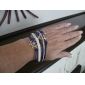Men's Women's Wrap Bracelet Leather Bracelet Basic Multi Layer Personalized Fashion Leather Alloy Anchor Infinity Jewelry For Party Gift