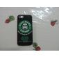 하드 마스크 남자 커피 패턴 플라스틱 코팅 PC에 아이폰 5 / 5S에 대한 백 커버 케이스 (모듬 색상)