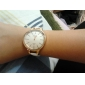 Mulheres Relógio de Moda Quartzo PU Banda Minimalista Preta Branco Marrom
