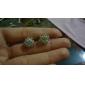 Mulheres Brincos Curtos Básico Estilo simples Moda bijuterias Cristal Zircão Zircônia Cubica Imitações de Diamante Liga Formato de Flor