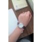 남성 아가씨들 커플용 드레스 시계 일본 쿼츠 석영 PU 밴드 브라운