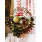 Five-Piece Multilayer Choke A Small Pepper Crystal Gem Clover Bracelet B173