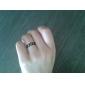 Anéis Pesta / Diário / Casual Jóias Liga Feminino Anéis Grossos6 Dourado / Preto / Prateado