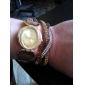 Women's Ellipse Diamond Dial Two-tone Rhinestone Band Quartz Analog Fashion Bracelet Watch (Assorted Color) Cool Watches Unique Watches Strap Watch