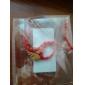 중국의 붉은 잎 평화의 상징과 고전적인 빨간 밧줄 팔찌를위한 번영