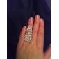 여성용 문자 반지 유니크 디자인 유럽의 의상 보석 패션 크리스탈 라인석 Flower Shape 로즈 보석류 제품 결혼식 파티 일상 캐쥬얼