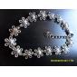Sweet Flower 20cm Unisex Silver Alloy Chain & Link Bracelet(1 Pc)