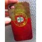 старинные Португалия флаг шаблон жесткий футляр для iPhone 4/4S