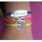 eruner®1 árvore de vida pcs moda acreditar e infinitas brecelets padrão (aleatório) braceletes inspirados