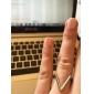 Anéis Casamento Festa Diário Jóias Liga Feminino Anéis Meio Dedo 1peça,8 Dourado Preto Prateado