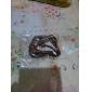Men's Lureme Retro Alloy Heart Braided Leather Bracelet