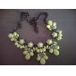 Feminino Colares Declaração Cristal Strass Liga Moda bijuterias Jóias Para Casamento Festa Diário Casual