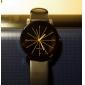 남성 아가씨들 커플용 드레스 시계 패션 시계 손목 시계 라인석 모조 다이아몬드 석영 PU 밴드 블랙