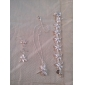 Sweet Silver Plated (Necklace & Ring & Earrings & Bracelet) Jewelry Set (Silver)