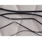 1M Черный Термоусадочные трубки - Пять размер упаковки (0.8/1.5/2.5/3.5/4.5mm)