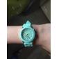 Женские Модные часы Повседневные часы Кварцевый силиконовый Группа Конфеты Черный Белый Синий Красный Коричневый Зеленый Розовый