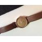 женская круглый кожаный диск группы кварца моды часы (разных цветов)