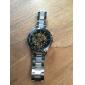 남성 손목 시계 기계식 시계 중공 판화 오토메틱 셀프-윈딩 스테인레스 스틸 밴드 럭셔리 실버