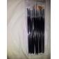 15pcs conception de nail art peinture dessin jeu de brosse plume (blanc, rose, noir 3 couleurs au choix)