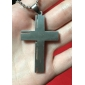 Fashion Jesus The Bible  Stainless Steel Cross Pendant Necklace Men's  Jewelry