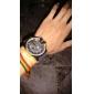 V6 남성 밀리터리 시계 손목 시계 석영 PU 밴드 블랙 브라운 그린 네이비