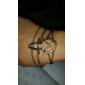 Lureme®Vintage Crystals Deer Head Charm Bracelet