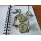 Homme Montre de Poche Montre mécanique Remontage manuel Gravure ajourée Alliage Bande rétro Luxe Bronze