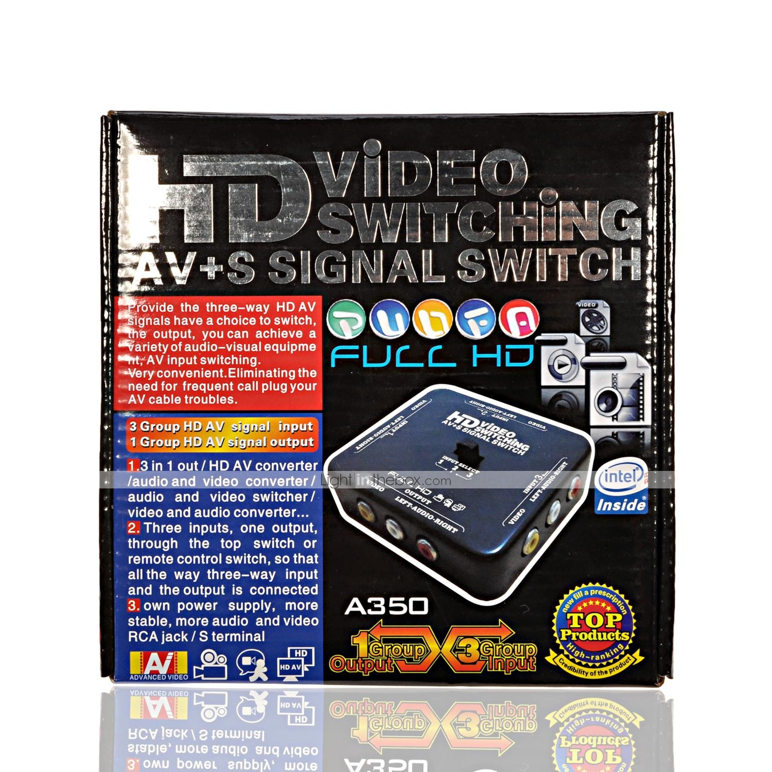 A350 High Ranking Hd Audio Video Switching Av S Signal Switcher 2 Way Rca Switch Photos