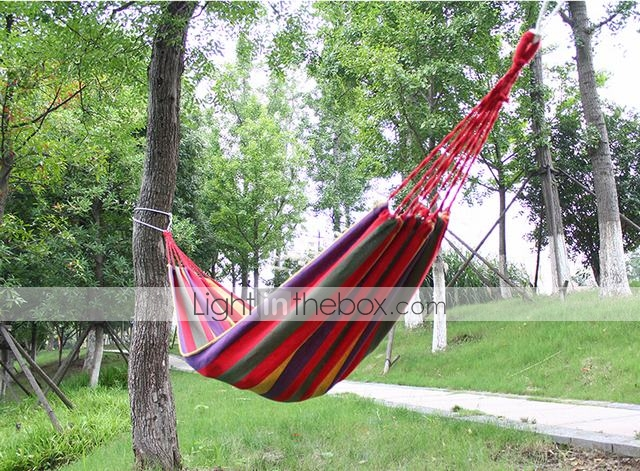 200X80cm Practical Rope Hanging Double Hammock Swing Bed Camping Outdoor Utensil