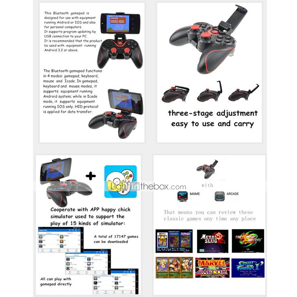 Bluetooth Gamepad Game Controller Joystick for Android Tablet PC