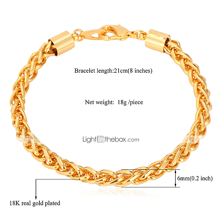 b00f7de8529f5 Women's Chain Bracelet Dubai 18K Gold Plated Bracelet Jewelry Gold For  Christmas Gifts Wedding Party Daily Casual Sports
