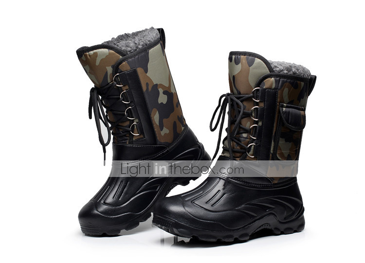 7537 New Men Outdoor Oxford Snow Boots Camo Waterproof Fishing Boots Shoes gift