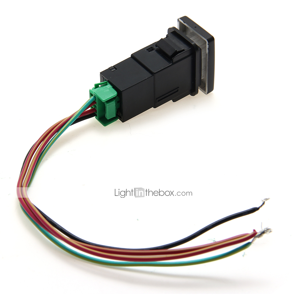 Carchet For Toyota Led Push Switch With Connector Wire Kit Laser 2003 Tundra Wiring Fj Cruiser 2007 2015 Fortuner 2005 2014 Hilux Highlander 2001