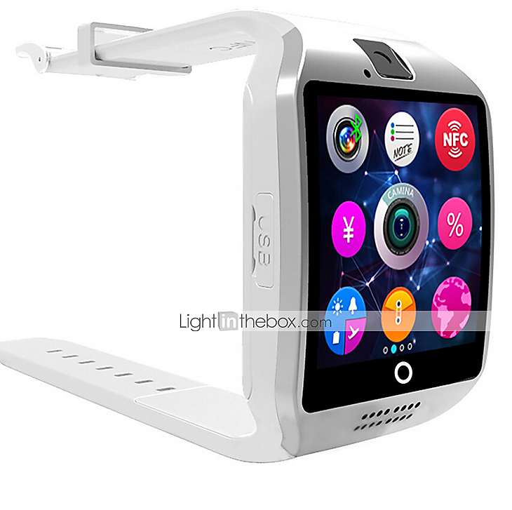 Q18 Men Smartwatch Android Bluetooth Touch Screen Calories Burned  Hands-Free Calls Camera Distance Tracking Timer Call Reminder Activity  Tracker Sleep
