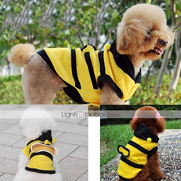 f8746441ba06 Cat Dog Costume Coat Hoodie Dog Clothes Animal Polar Fleece Costume ...