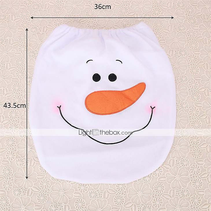 Awesome 1Pc New Year Christmas Scarf Snowman Toilet Seat Cover Decoration Indoor Toilet Cover Supplies Pabps2019 Chair Design Images Pabps2019Com