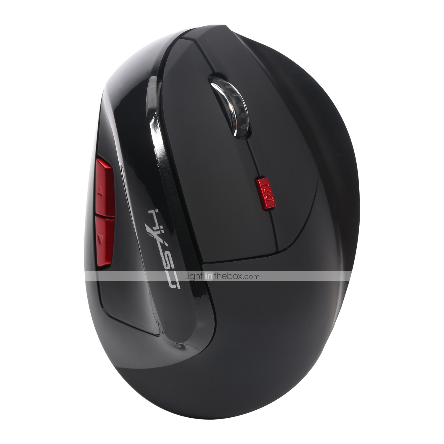 HJSS Wireless Mouse 2.4GHz 1200DPI Silent Rechargeable Wireless Mice PC Laptop Computer Gift Mouse with 3 Buttons Creative Office Shoe Shape Mouse Black