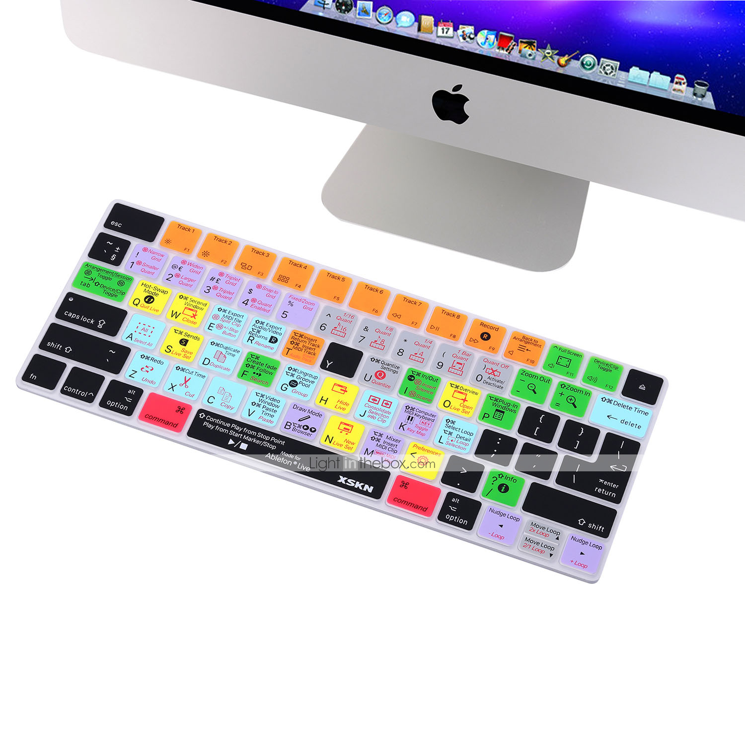 XSKN® Ableton Live Suite Shortcut Silicone Keyboard Skin for Magic Keyboard  2015 Version (US/EU Layout)
