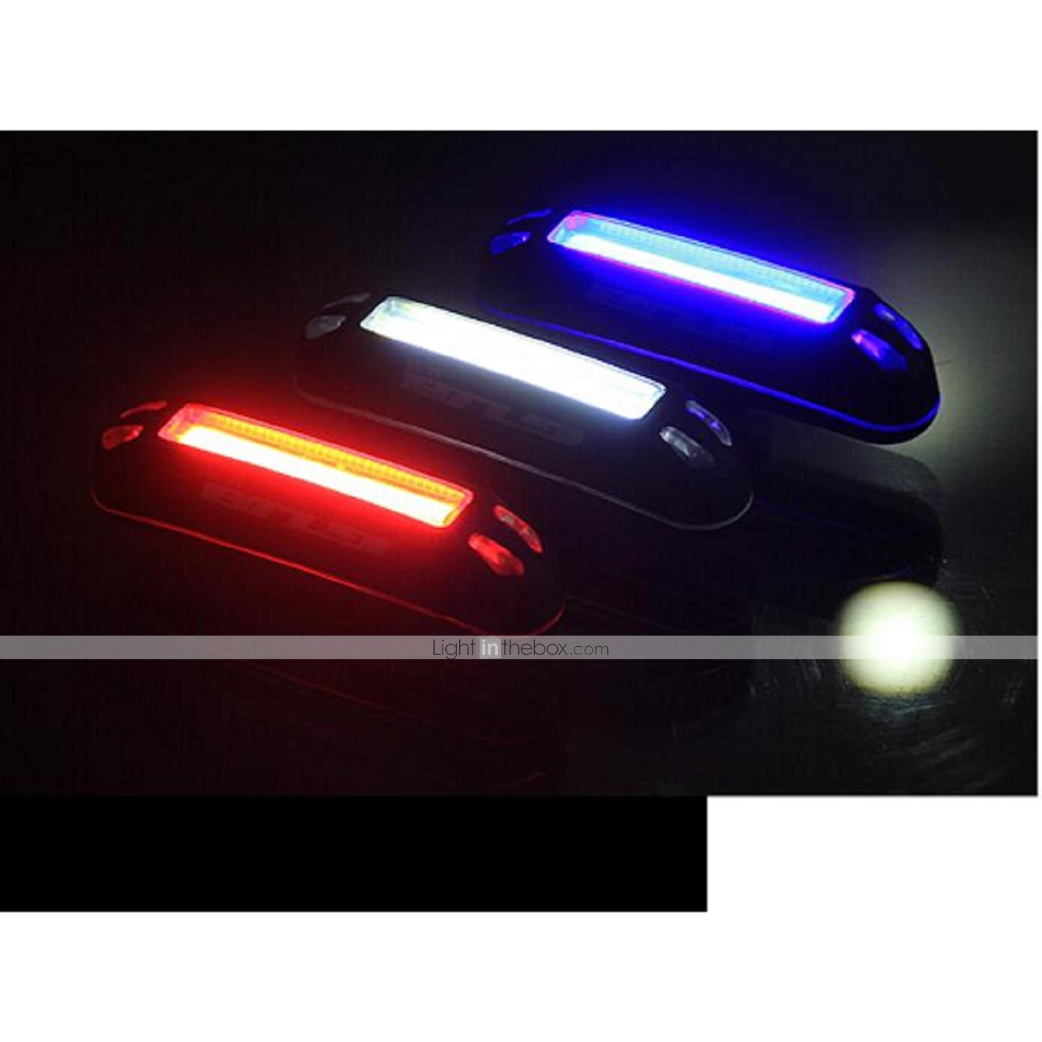 Cycling Ligths USB Rechargeable Bicycle Tail Red//Blue//White Light Bike Lights