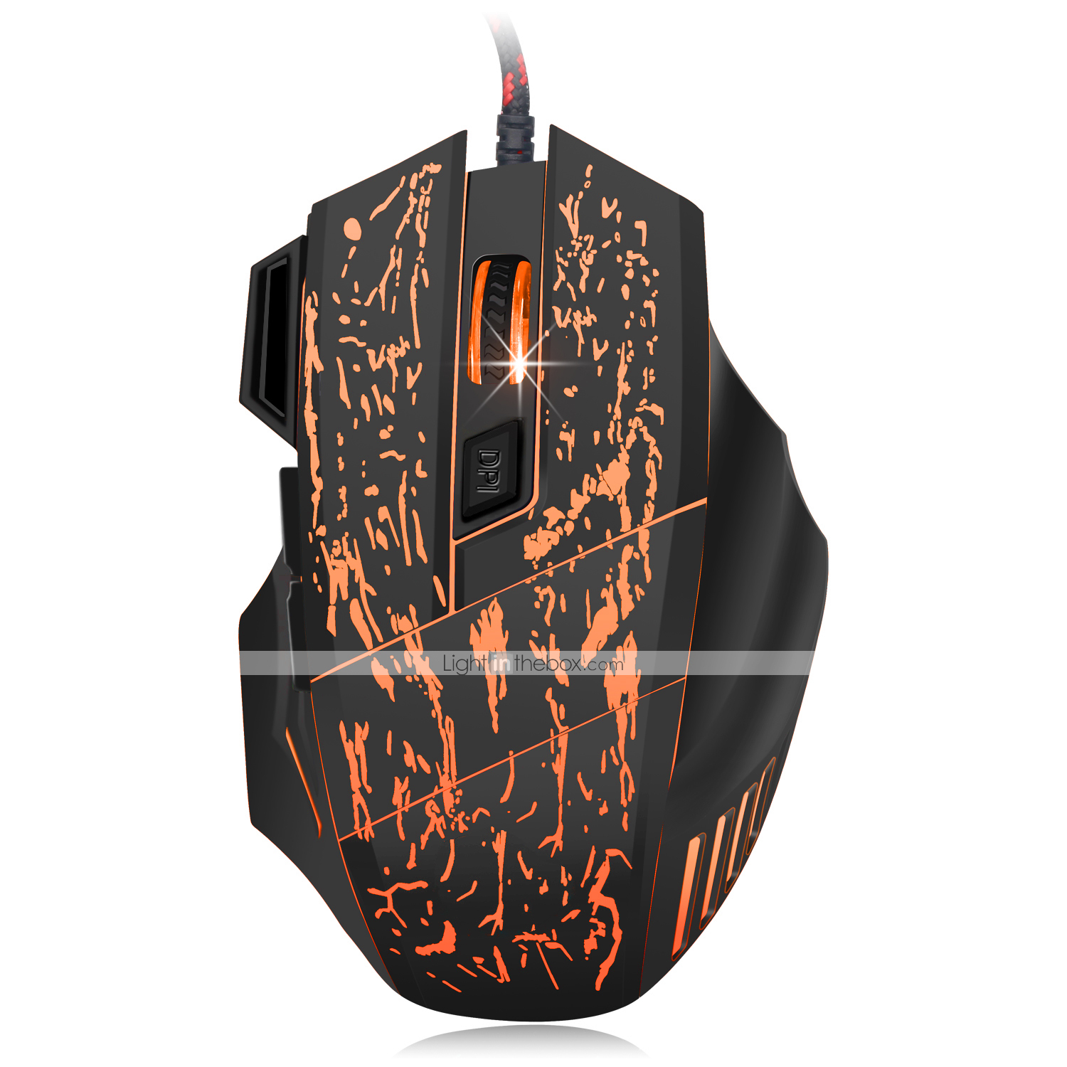Gaming Mouse 6 Button USB Wired LED Breathing Fire Button 1800 DPI Laptop PC