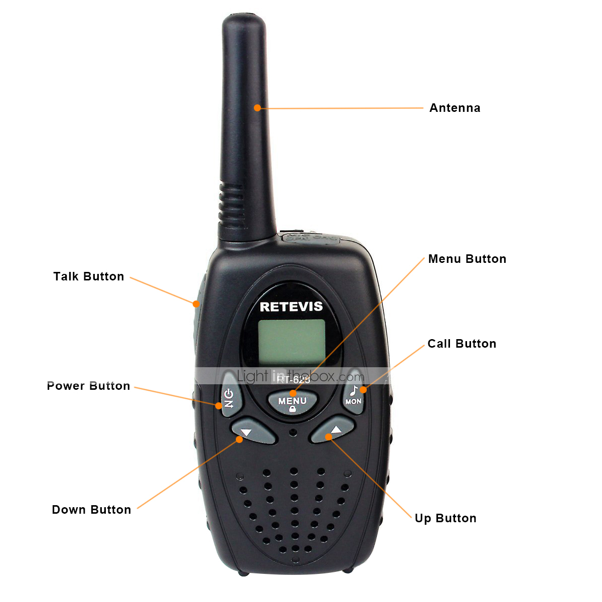 Retevis RT628 Kids Walkie Talkies 22 Channel FRS/GMRS UHF