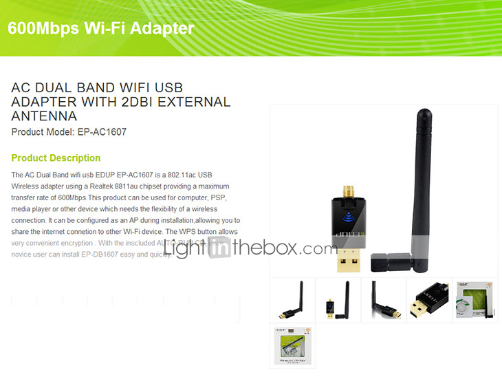 150Mbps 2.4Ghz Wireless USB WiFi Network Adapter w//Antenna 802.11N  LU LS