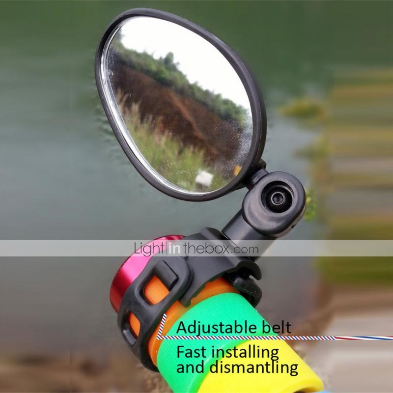 1pc Bicycle Handlebar End Mirrors 360 Rotatable Bike Side Rearview Mirror #K