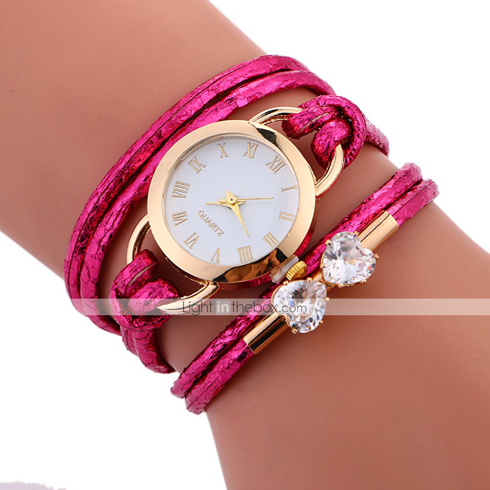 e4c3a81e2 Women's Bracelet Watch Wrap Bracelet Watch Quartz Wrap Quilted PU ...