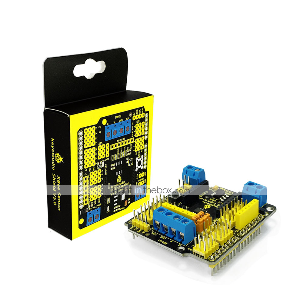Keyestudio Xbee Sensor Expansion Shield V5 with RS485 Bluebee Interface for  Arduino Robot Car