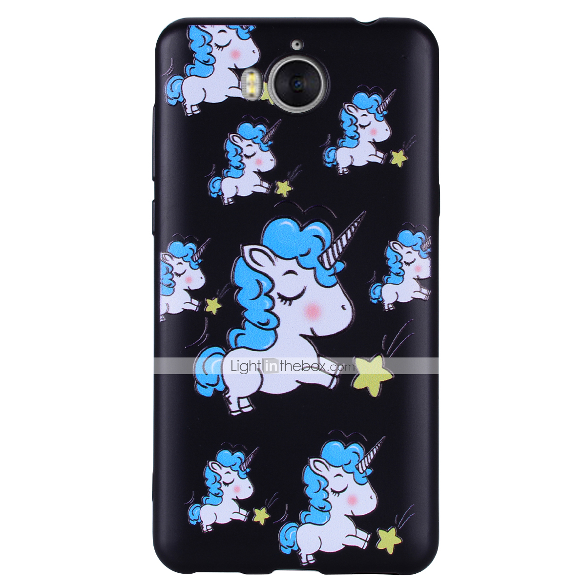 release date 58972 846ce Case For Huawei Huawei Y6 (2017)(Nova Young) / Huawei Y5 III(Y5 2017) /  Huawei Y3 (2017) Pattern Back Cover Unicorn Soft Silicone