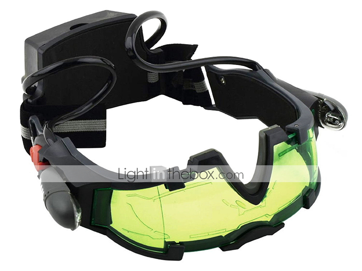 Night Vision Goggles with Flip out Blue Led Lights Lenses Waterproof
