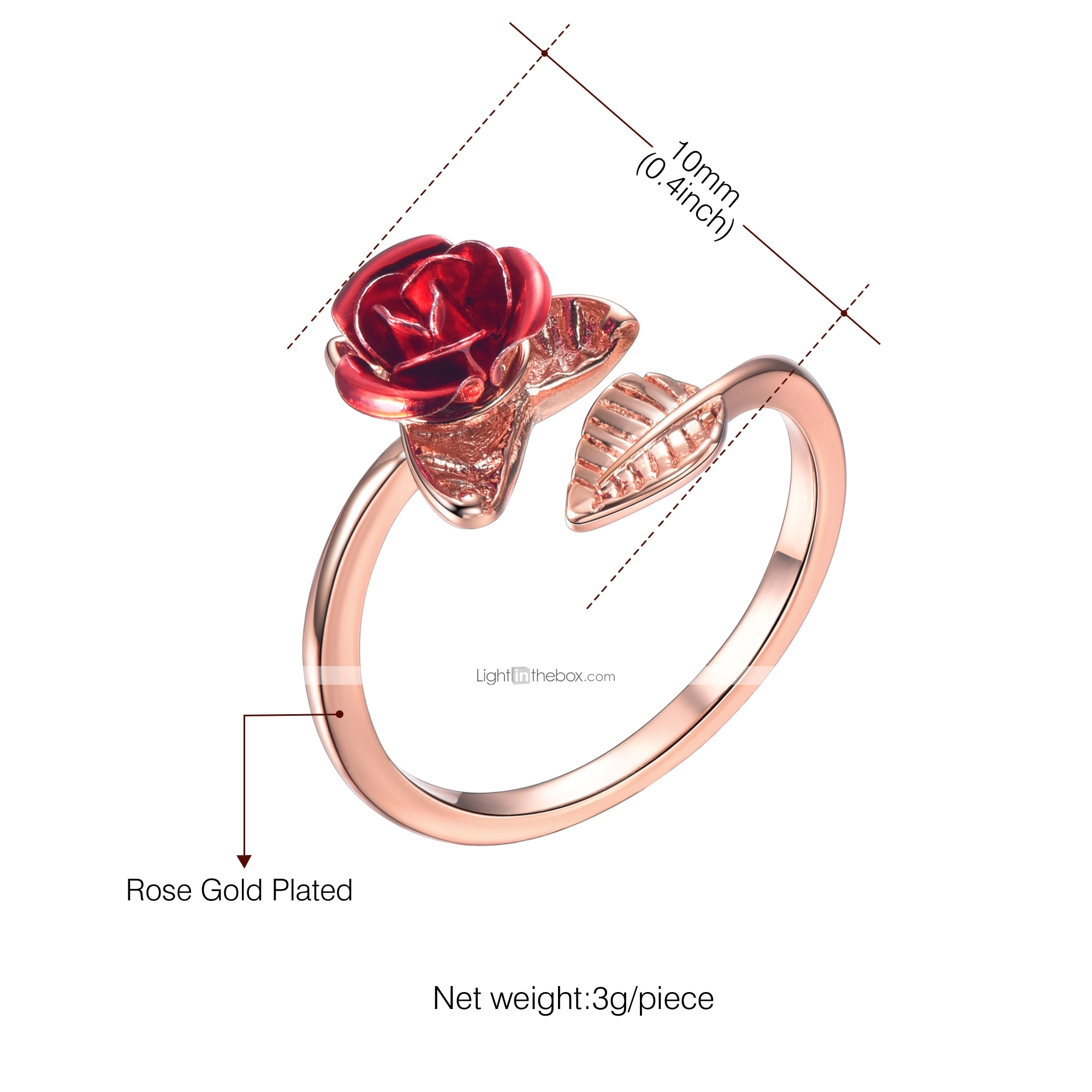 4f7bed6831fe3c Women's Sculpture Open Ring thumb ring Copper Flower Ladies Romantic  Fashion Ring Jewelry Gold / Silver / Rose Gold For Gift Daily Adjustable  #06935869
